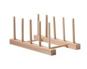 kitchen Creative simple Multifunction Beech Shelf Dinner plate frame Drain Storage rack