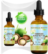 KUKUI OIL HAWAIIAN 100% Pure / Refined Cold Pressed Carrier Oil for Skin, Hair, Lip and Nail Care. 1 Fl.oz.- 30 ml. by Botanical Beauty