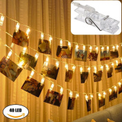 LED Photo Clip String Light,KUXIEN Led picture light string ,Battery Powered LED String Lights for Indoor,Wedding ,Party and Wall Decoration