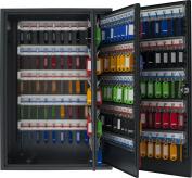 PAVO Deluxe Key Cabinet for 300 keys - Dark Grey, Metal, Dark Grey, 20x38x55 cm