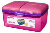 Sistema Large Pink Quaddie Lunch Box 2 Ltr