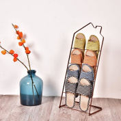 creative slippers/simple living room shoes rack/The bathroom floor to ceiling shoe rack/and slippers-C