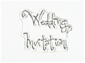Woodware Clear Stamps 6.4cm x 4.4cm Wedding Invitation