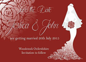 10 x Personalised Wedding Save The Date Cards