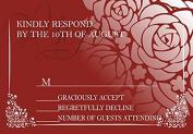 10 x Personalised Wedding RSVP Cards