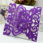 H & D 12pcs Laser Cut Beautiful Butterfly Flower Design Wedding Birthday Party Invitations Elegant Cards,Thanks you card,Bady Greet Card,Engagement Party Favours Gifts Decoration