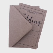10 VINTAGE RECEPTION/EVENING INVITATIONS WITH ENVELOPES
