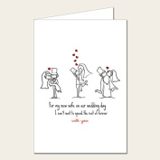 Personalised Wedding Card - To My Wife Card 2