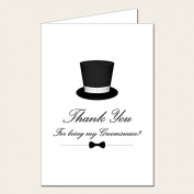Personalised Wedding Party Card - Groomsman Thank You Card 3