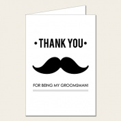 Personalised Wedding Party Card - Groomsman Thank You Card 1