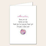 Personalised Wedding Party Card - Flower Girl Thank You Card 1
