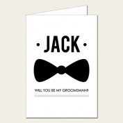 Personalised Wedding Party Card - Will You Be My Groomsman Card 2