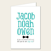 Personalised Wedding Party Card - Will You Be My Page Boy.