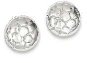 IceCarats 925 Sterling Silver Soccer Ball Mini Post Stud Button Earrings Sport