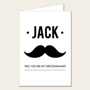 Personalised Wedding Party Card - Will You Be My Groomsman Card 1