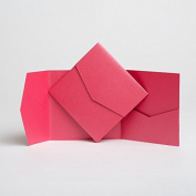 Hot Pink Pearlescent Pocketfold Invites 144mmx144mm
