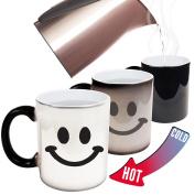 Funny Mugs - 123t Smiley Face - Joke Humour Gift Birthday Present COLOUR CHANGING NOVELTY MUG -Christmas Secret Santa