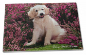 Golden Retriever Puppy 'Love You Mum' Extra Large Toughened Glass Cutting, Chopp
