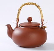 """'Clay """"Terry – Tea Pot 1.0 Litre Teapot with Bamboo Handle and Steel Filter"""