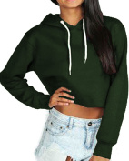 Ladies Womens Girls Crop Hoodie New Cropped Hooded Hoody Sweatshirt Plain Jumper Heavy Sweat Pullover Tops SIZES 6-12