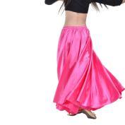 Dance Fairy Belly Dance Satin Long Swing Skirt for Beginners