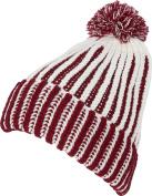 Sakkas Rhea Unisex Heathered Multi Coloured Stripe Pom Pom Beanie Hat