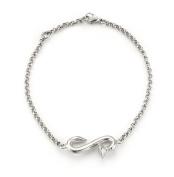 Mateo NYC Silver Nail Chain Bracelet