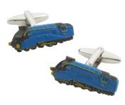 Mallard Train Cufflinks (Blue)