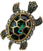 Loveangel Jewellery Women's Crystal Big Turtle Pin Brooch Pendant