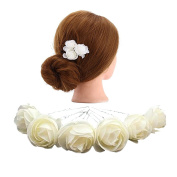 TOOKY 12pcs Hair Flower Clip Pin Bridal Girl Women For Wedding Prom Party