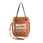 Vbiger Women Tote Bags Fashionable Handbag PU Leather Messenger Bag Shoulder Bag with Long Top Handle
