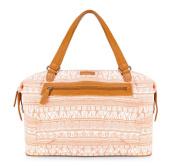 White Women's Shopper Women's Bag – 15 X44 46 cm, Cotton, Fabric, Handmade, 4y/515 x, brown (Brown) - 82-4Y-515-6