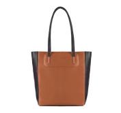 White Rattan 159 cm Leather Ladies Shopper Women's Handbag, Genuine Leather, Handmade, 83/4E/491/X, brown/black (Brown) - 83-4E-491-5