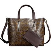 Berchirly Vintage Exotic Retro Leather Tote Bag Shoulder Sling Bag For Women