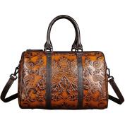 Berchirly Womens Shoulder Sling Bag Vintage Leather Tote Bag Satchel