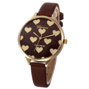Morwind Casual Watch for Women, Faux Leather Band Watch, Quartz Analogue Wrist Watch