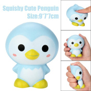 VNEIRW Cute Penguin Jumbo Scented Squishies Slow Rising Squeeze Baby Soft Toys Stress Relief Toys