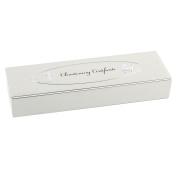 Baby Christening Gift. Velvet Lined Certificate Holder Box
