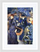 RENOIR UMBRELLAS OLD MASTER BLACK FRAMED ART PRINT B12X1739
