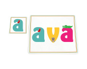 Feel Good Art High Gloss Placemat and Coaster for Babies and Toddlers, Cute Illustrations and Personalised with Girl's Name