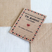 20 x Bride's Parents Hosting Rustic Wedding Brown Invitations with Brown Envelopes