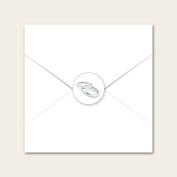 Silver Rings - Wedding Envelope Seals