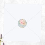 Shabby Chic Polka Dot & Roses - Wedding Envelope Seals