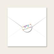Pom Pom & Heart Bunting - Wedding Envelope Seals