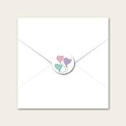 Love Hearts - Wedding Envelope Seals