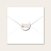 Watercolour Roses - Wedding Envelope Seals
