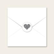 Heart Pattern - Wedding Envelope Seals