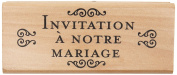 Rico Design Wooden Stamp Invitation to our Wedding Nature