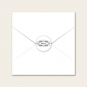 Personalised Wedding Envelope Seals - Monogram Swirls