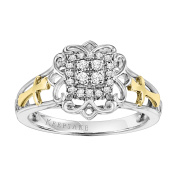 Keepsake Anna 1/6 Carat T.W. Certified Diamond Sterling Silver and 10kt Yellow Gold Ring
